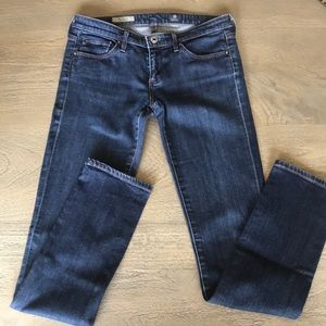 "AG ""The Stevie"" Slim Straight Jeans"